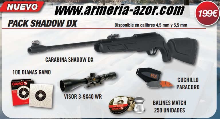 Gamo Pack Shadow DX 4.5mm or 5.5mm